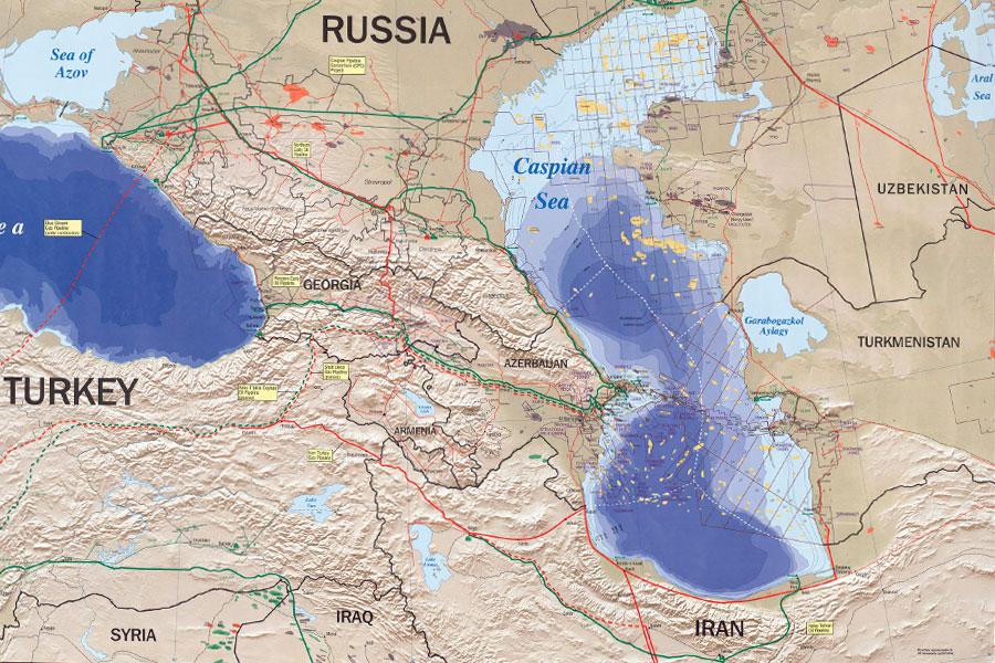Mapa Mar Caspio