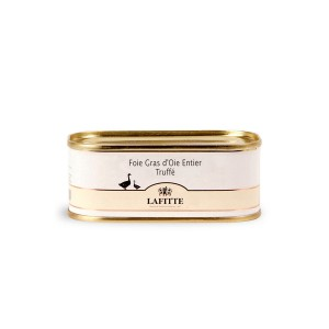 Lata de foie gras de ganso entero trufado Lafitte de 130 gramos