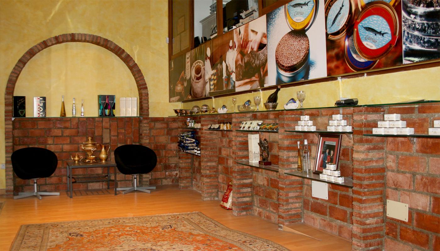 Interior de la tienda física de Black Pearl